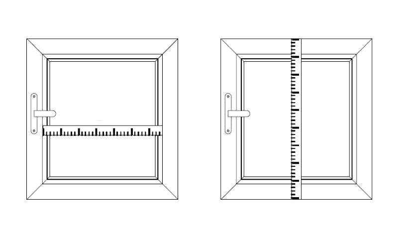 Замер жалюзи деревянных вариант 2
